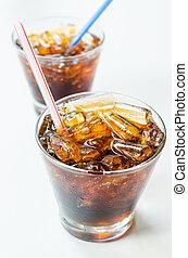 Coke in the glass