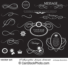 calligraphic design elements and page decoration can be used...