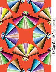 Fan colorful pattern