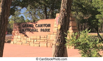 Grand Canyon Entrance sign - Grand Canyon National Park...