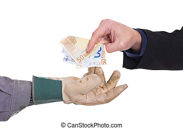 Payment is carried out in cash