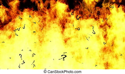 Burning Questions Looping Animated Background