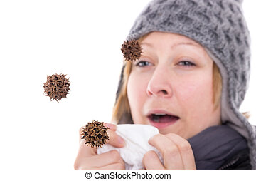 Virus in the air - Viruses and bacteria flying through the...