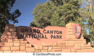 Grand Canyon Entrance sign