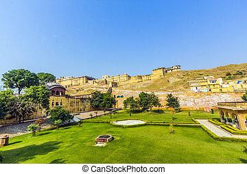 Famous Rajasthan landmark Amber Fort - Amer Fort, Rajasthan,...