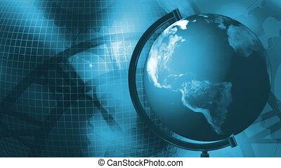 Earth Blue Gears Time Loop