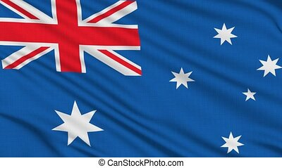 Australian flag, with real structure of a fabric