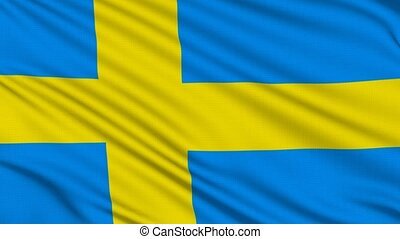 Swedish flag, with real structure of a fabric
