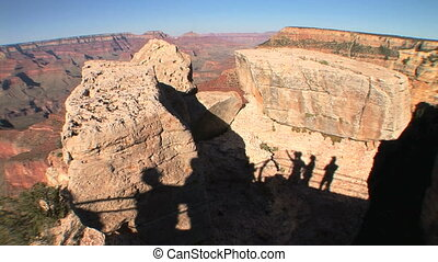 Grand Canyon Shadows - Shadows of tourists on the south rim...