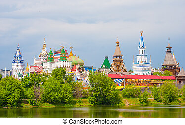 Kremlin in Moscow - Ismaylovo kremlin in Moscow on a bright...