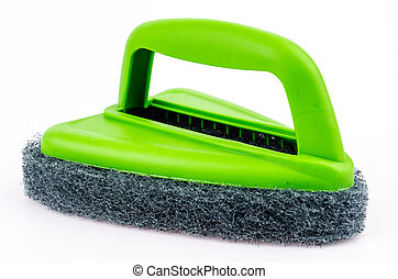 Scrubber on isolated white background