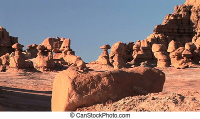 Goblin Valley - Unique eroded rock formation in Goblin...