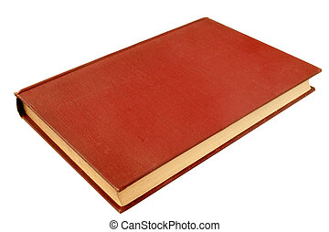 An old red book, published in 1908, with a blank cover