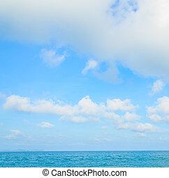 Sea sky cloud