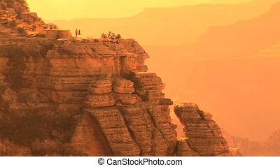 Grand Canyon National Park, South Rim, nondescript tourists...