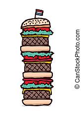 Векторная графика клипарт диетическая пирамида еда