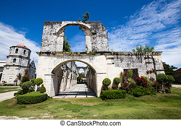 An old baroque church in the Oslob, Philippines.