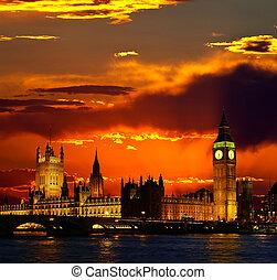 edificio, grande, Parlamento,  Ben,  -