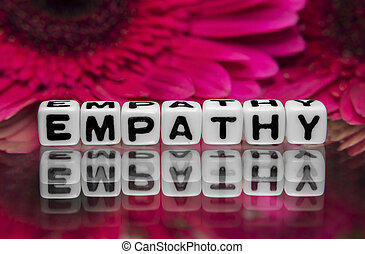 Empathy text message with pink flowers