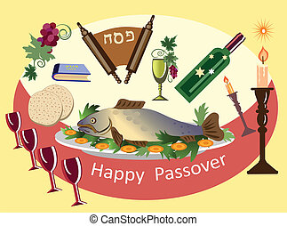 passover fish ,holiday background.