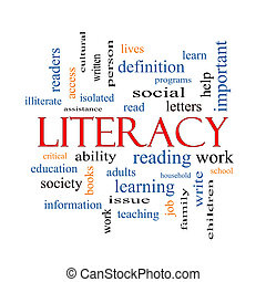 Literacy Word Cloud Concept