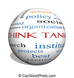 Think Tank 3D sphere Word Cloud Concept with great terms...
