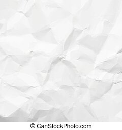 Crumpled paper - Texture of white crumpled paper