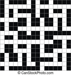 Vector Crossword Puzzle Abstract. - Vector illustration of...