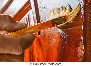 wood coatings - Protective lacquer coating wood surfaces...