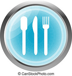 food web glossy icon, button isolated on white