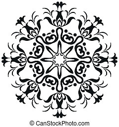 Abstract contour pattern
