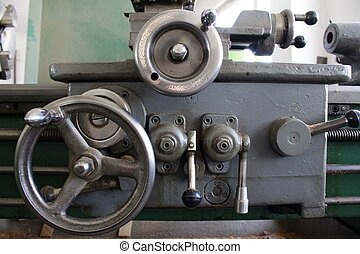 Old steel lathe
