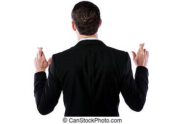 deseo, aislado, espalda, Plano de fondo, hombre de negocios,...