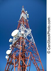 telecommunications tower in valladolid city spain