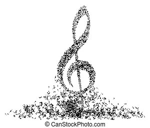 Musical note staff - Musical note staff. EPS 10 vector...