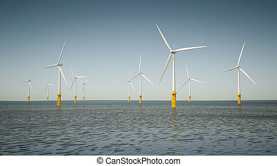 offshore wind energy park - An image of an offshore wind...