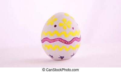 Easter egg isolated over white background