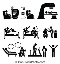 Hospital Medical Therapy Treatment - A set of human...