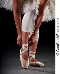 bailarina, Pantuflas