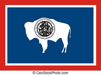 Wyoming Flag - Very large 2d illustration of Wyoming Flag