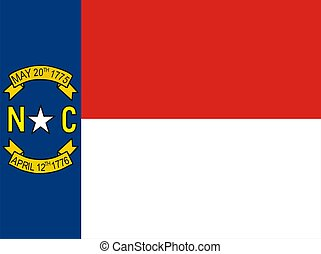 North Carolina Flag - Very large 2d illustration of North...