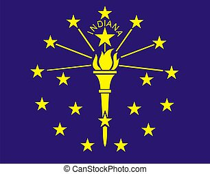 Indiana Flag - Very large 2d illustration of Indiana Flag
