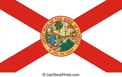 Florida Flag - Very large 2d illustration of Florida Flag