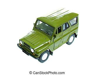 Green military car