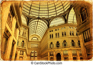 Naples - Umberto I gallery in the city of Naples, italy