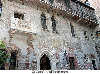 marble, balcony, Juliet's, House, Verona