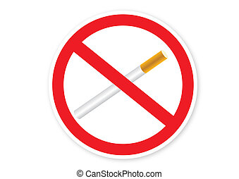 No smoking sign isolated on the white background