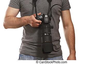 攝影師, 細節, 被隔离