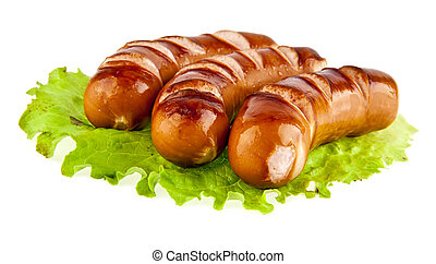 sausage on a white background