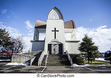 Church at Hakodate. Hokkaido north of Japan